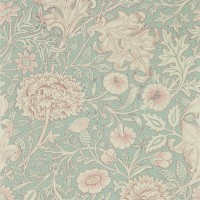 Tapet William Morris - Double Bough Teal Rose