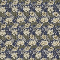 Tyg William Morris - Chrysantemum Indigo Cream
