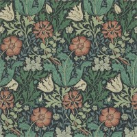 Tapet William Morris - Compton Indigo Russet