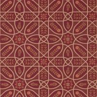 Tapet William Morris - Brophy Trellis Russet Gold