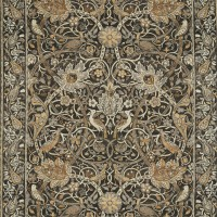Tyg William Morris - Bullerswood Charcoal Mustard