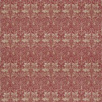 Tyg William Morris - Brer Rabbit Red Hemp
