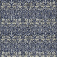 Tyg William Morris - Brer Rabbit Indigo Vellum