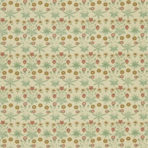 Tyg William Morris - Daisy Terracotta Gold