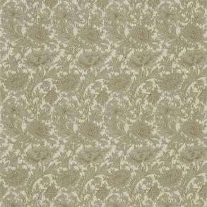 Tyg William Morris - Chrysantemum Slate Cream