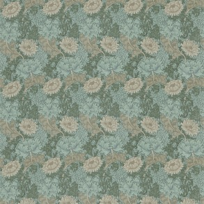 Tyg William Morris - Chrysantemum Green Biscuit
