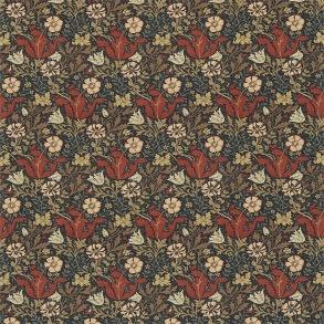 Tyg William Morris - Compton Linne Faded Terracotta Multi