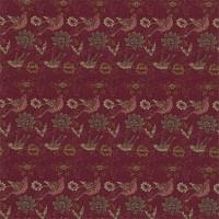 Tyg William Morris - Bird & Anemone Red Clay