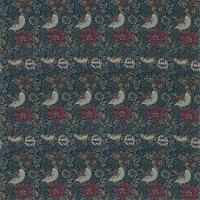 Tyg William Morris - Bird & Anemone Forest Indigo
