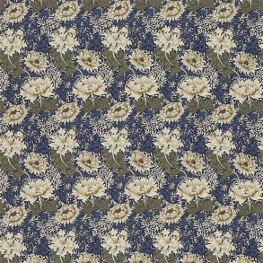 Tyg William Morris - Chrysantemum Indigo Cream
