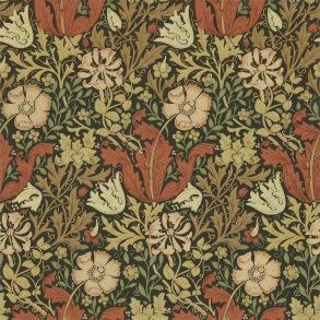 Tapet William Morris - Compton Brown Orange - Tapet William Morris Compton 210420