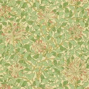 Tapet William Morris - Honeysuckle Green/ Pink - Tapet William Morris Honeysuckle 210435
