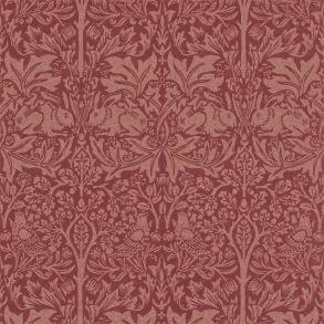 Tapet William Morris - Brer Rabbit Church Red - Tapet William Morris Brer Rabbit DMORBR101
