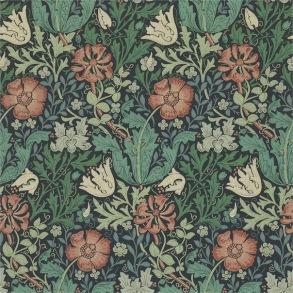 Tapet William Morris - Compton Indigo Russet - Tapet William Morris Compton 210421