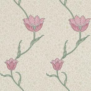 Tapet William Morris - Garden Tulip Rose Thyme - Tapet William Morris Garden Tulip 210391