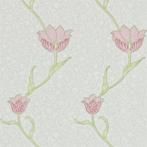 Tapet William Morris - Garden Tulip Porceline Pink - Tapet William Morris Garden Tulip 210394