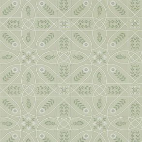 Tapet William Morris - Brophy Trellis Sage Linen - Tapet William Morris Brophy Trellis 216672