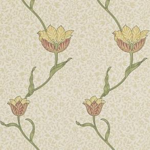 Tapet William Morris - Garden Tulip Russet Lichen - Tapet William Morris Garden Tulip 210392