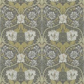 Tapet William Morris - Honeysuckle & Tulip Charcoal/Gold