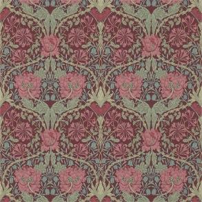 Tapet William Morris - Honeysuckle & Tulip Burgundy/Sage