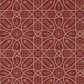 Tapet William Morris - Brophy Trellis Russet Gold - William Morris Brophy Trellis  Tapeten beställs i antal rullar.  Bredd 68.6cm: (27.0