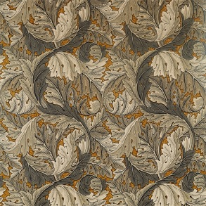 Tyg William Morris - Acantus Velvet Mustard Grey