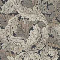 Tapet William Morris - Acanthus Charcoal/ Grey