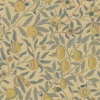 Tapet William Morris - Fruit Blue/ Gold