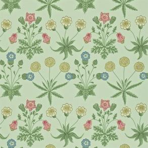 Tapet William Morris - Daisy Pale Green/ Rose - Tapet William Morris Daisy 212559