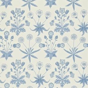 Tapet William Morris - Daisy Blue/ Ivory - Tapet William Morris Daisy 212561