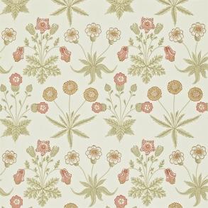 Tapet William Morris - Daisy Coral/ Manilla - Tapet William Morris Daisy 212560