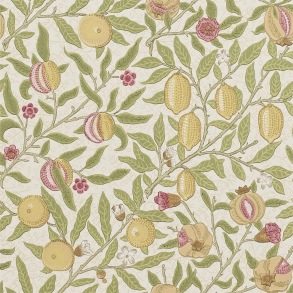 Tapet William Morris - Fruit Limestone/ Artichoke - Tapet William Morris Fruit 210395