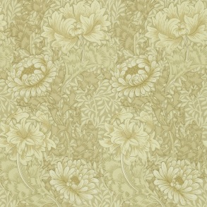 Tapet William Morris - Chrysanthemum Ivory/ Canvas - Tapet William Morris Chrysanthmum 210419