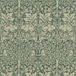 Tapet William Morris - Brer Rabbit Forest/ Manilla - Tapet William Morris Brer Rabbit DMORBR102