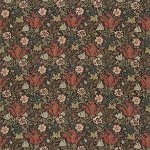 Tyg William Morris - Compton Bomull Terracotta Multi