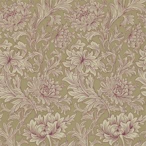 Tapet William Morris - Chrysanthemum Toile Grape/ Bronze - Tapet William Morris Chrysanthmum Toile 210416