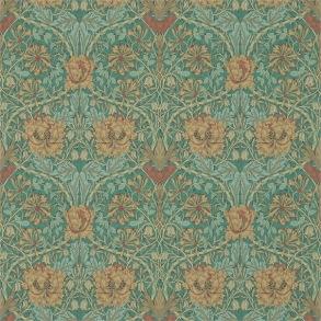 Tapet William Morris - Honeysuckle & Tulip Emerald/Russet
