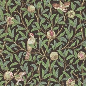 Tapet William Morris- Bird & Pomegranate Charcoal/ Sage - Tapet William Morris Bird & Pomegranate 212537