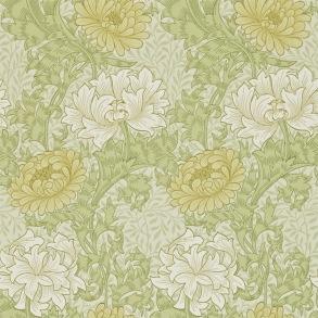 Tapet William Morris - Chrysanthemum Pale Olive - Tapet William Morris Chrysanthmum 216845