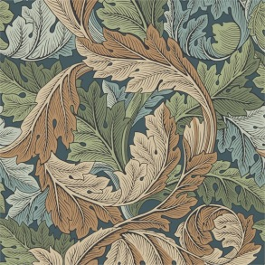 Tapet William Morris - Acanthus Slate Blue/ Thyme - Tapet William Morris Acanthus 216440