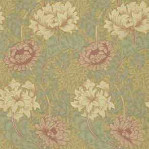 Tapet William Morris - Chrysanthemum Pink/ Yellow - Tapet William Morris Chrysanthmum 216860