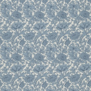 Tyg William Morris - Chrysantemum Toile Woad Chalk