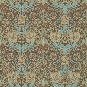 Tapet William Morris - Honeysuckle & Tulip Taupe/ Aqua - Tapet William Morris Honeysuckle & Tulip 214702