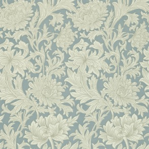 Tapet William Morris - Chrysanthemum Toile China Blue - Tapet William Morris Chrysanthmum Toile 210415