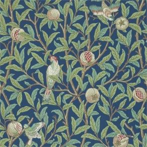 Tapet William Morris- Bird & Pomegranate Blue/ Sage - Tapet William Morris Bird & Pomegranate 212540
