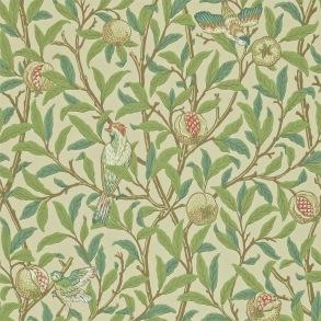 Tapet William Morris- Bird & Pomegranate Bayleaf/ Cream - William MorrisBird & Pomegranate Designad 1926  Tapeten beställs i antal rullar.  Bredd 52.0cm: (20.5