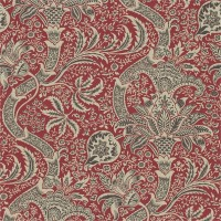 Tapet William Morris - Indian Red/ Black