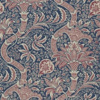 Tapet William Morris - Indian Indigo/Red
