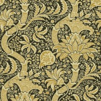 Tapet William Morris - Indian Black/Gold