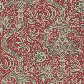 Tapet William Morris - Indian Red/ Black - Tapet William Morris Indian DMOWIN104